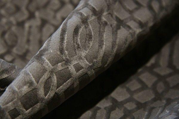 Smoke Cutout Lattice Cotton Velvet