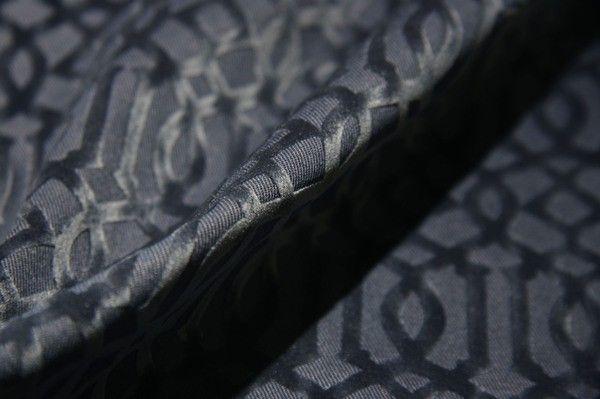 Navy Cutout Lattice Cotton Velvet