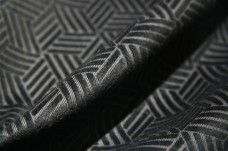 Black Cutout Cube Cotton Velvet
