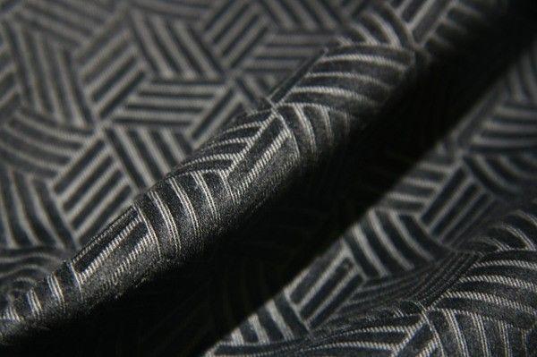 Black Cutout Cube Cotton Velvet