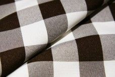 Large Gingham Gabardine -  Brown