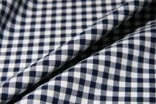 Small Gingham Gabardine - Navy
