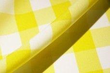 Large Gingham Gabardine - Lemon
