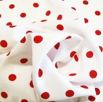 Color Dot Gabardine - Red