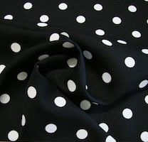 White Dot Gabardine - Black