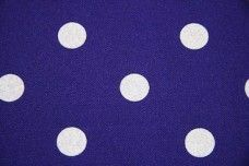 White Dot Gabardine - Dark Purple