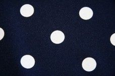 White Dot Gabardine - Navy