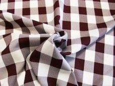 Large Gingham Gabardine - Burgundy