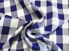 Large Gingham Gabardine - Dark Purple