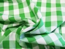 Large Gingham Gabardine - Lime Green