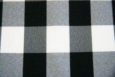 Large Gingham Gabardine - Black