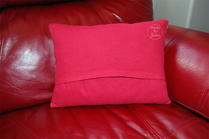 Valentine Pillow with fabrics from TheFabricMarket.com