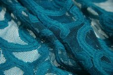 Teal Flourish Stretch Lace