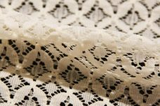 Ivory Geometric Stretch Lace