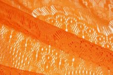 Orange Scallop Lace