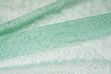 Mint Scallop Lace