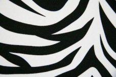 Zebra Gabardine - Black