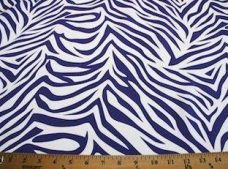 Zebra Gabardine - Dark Purple