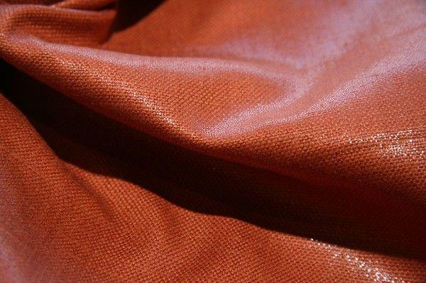 Rayon/Silk Sparkle Canvas - Rust