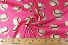 Pink Baseball Flannel