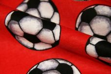 Red Soccer Ball Flannel