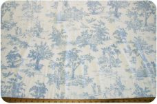 French Toile - Baby Blue