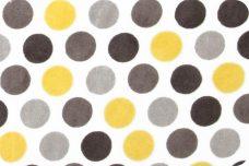 Mod Dots - Lemon & Silver