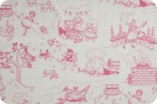 Nursry Ryme Toile - Hot Pink