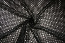 "Shiny Black 43"" MOD Floral Lace"