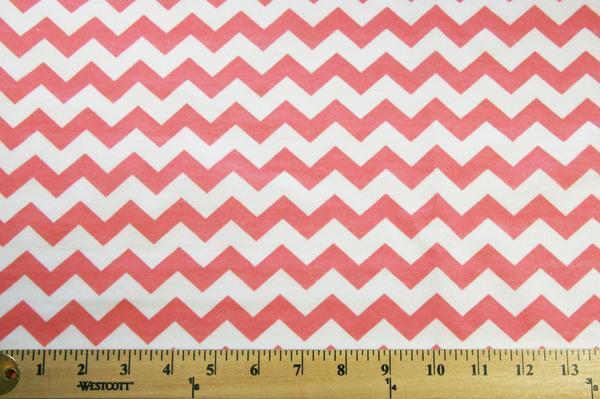 """3/8"""" Chevron Flannel - Coral"""