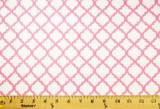 Lattice Flannel - White & Pink