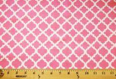 Lattice Flannel - Pink & White