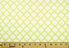 Lattice Flannel - White & Limon
