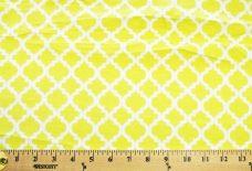 Lattice Flannel - Limon & White
