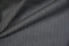 Faded Slate Micro Stripe Stretch Twill