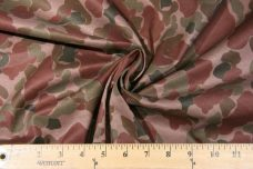 Mauve Camo Cotton Stretch Twill