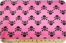 Chevron Skulls - Hot Pink