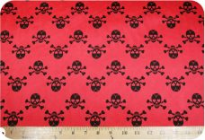 Chevron Skulls - Red