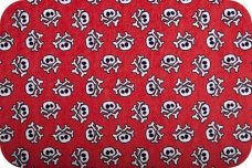 Skull & Crossbone Minky - Red