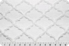 Embossed Lattice - White
