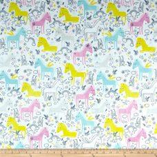 Unicorn Doodle Minky