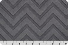 Embossed Chevron - Charcoal