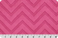 Embossed Chevron - Fuchsia
