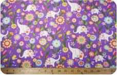 Sparkle Purple Elephant Flannel