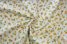 Calico Rose Flannel - Yellow