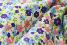 Calico Floral Flannel - Blue & Purple