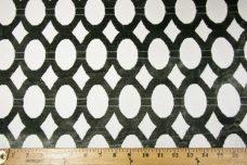 Charcoal & White Modern Oval Velvet