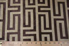Modern Geometric Chenille - Brown