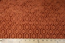 Hexagon Chenille - Rust