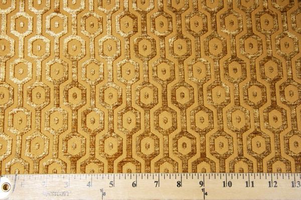 Hexagon Chenille - Gold